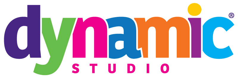 Dynamic Studio logo with coloured letters